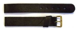Extra Extra Long Black Padded Leather Watch Strap (XXL)
